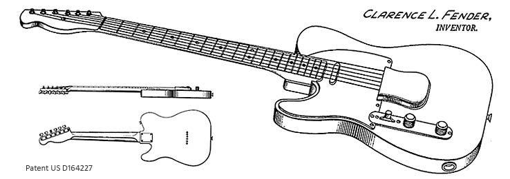 Fender Telecaster 1951 (Design-Patent)