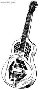 Design-Patent der Tricone Resonatorgitarre