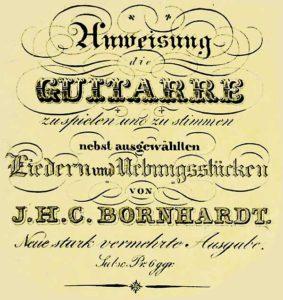 Gitarrenlehre von Bornhardt (1830)