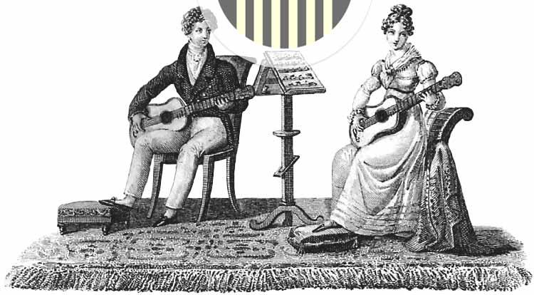 Gitarrenspieler um 1830