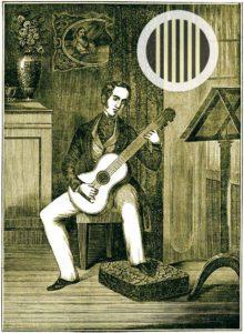 Haltung der Gitarre (Carcassi Gitarrenlehre)
